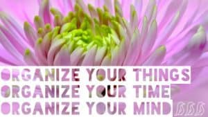 organize things time mind