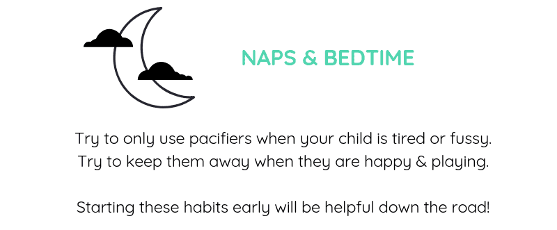 pacifier at night and naps