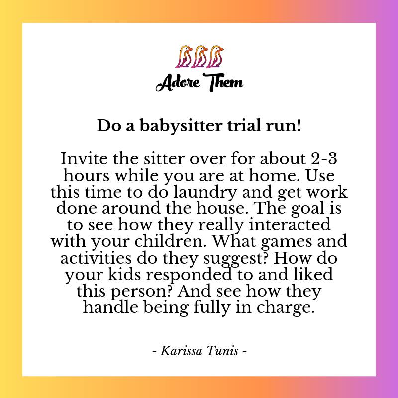 find a babysitter that