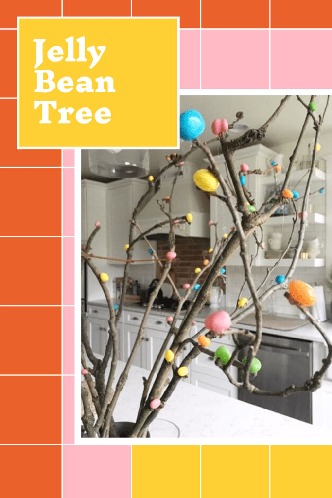 Jelly Bean Tree - Cute and Cheap Easter Decor