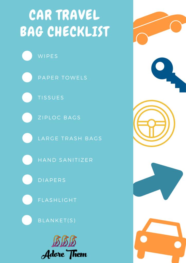 car travel bag checklist
