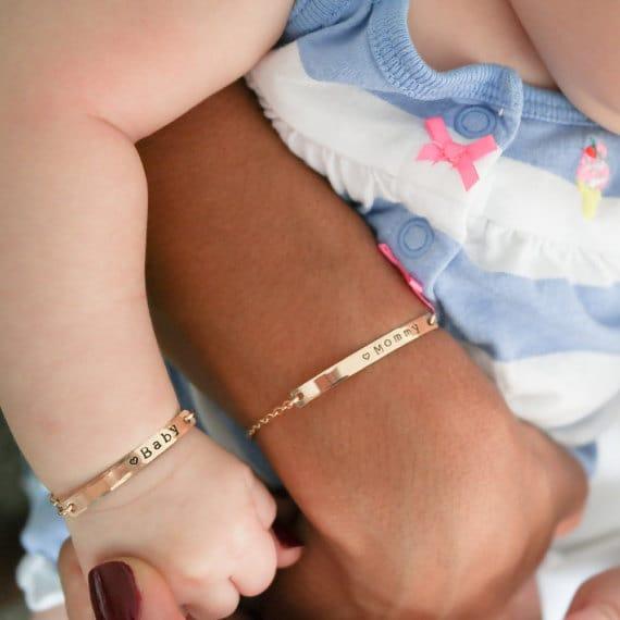 mommy baby bracelets