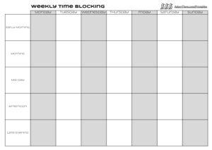 Weekly Time Blocking Printable