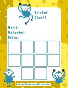 reward chart - monkey