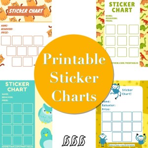 printable sticker charts for potty training