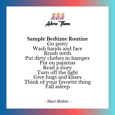sample bedtime routine