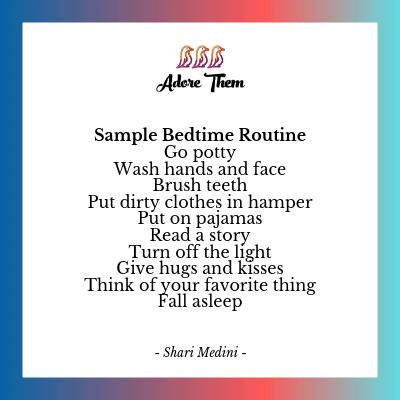sample bedtime routine