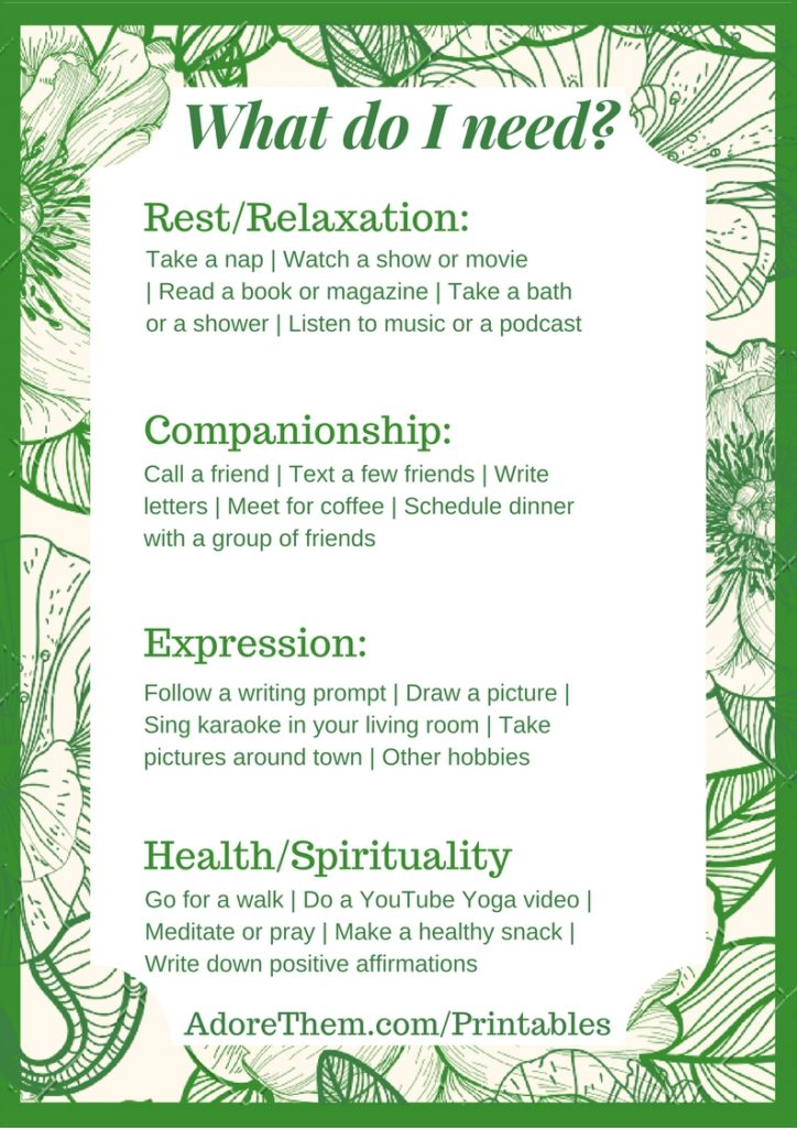 picture regarding Take What You Need Printable named What Do I Want? (A Self Treatment Printable) - Like Them