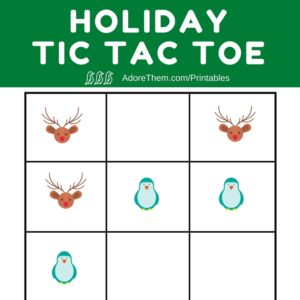 holiday tic tac toe