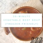 vegetable beef soup recipe