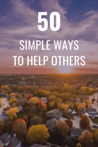 50 simple ways to help others