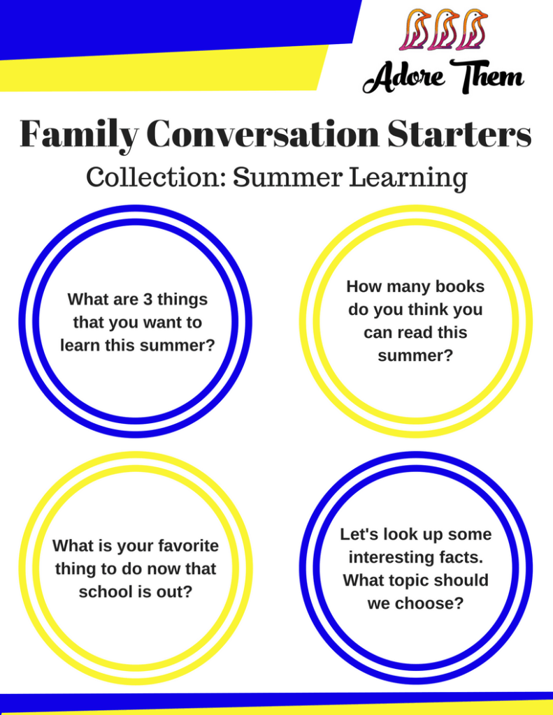 Family Conversation Starters - Summer Learning Collection