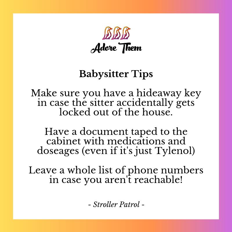 Babysitter Safety Tips