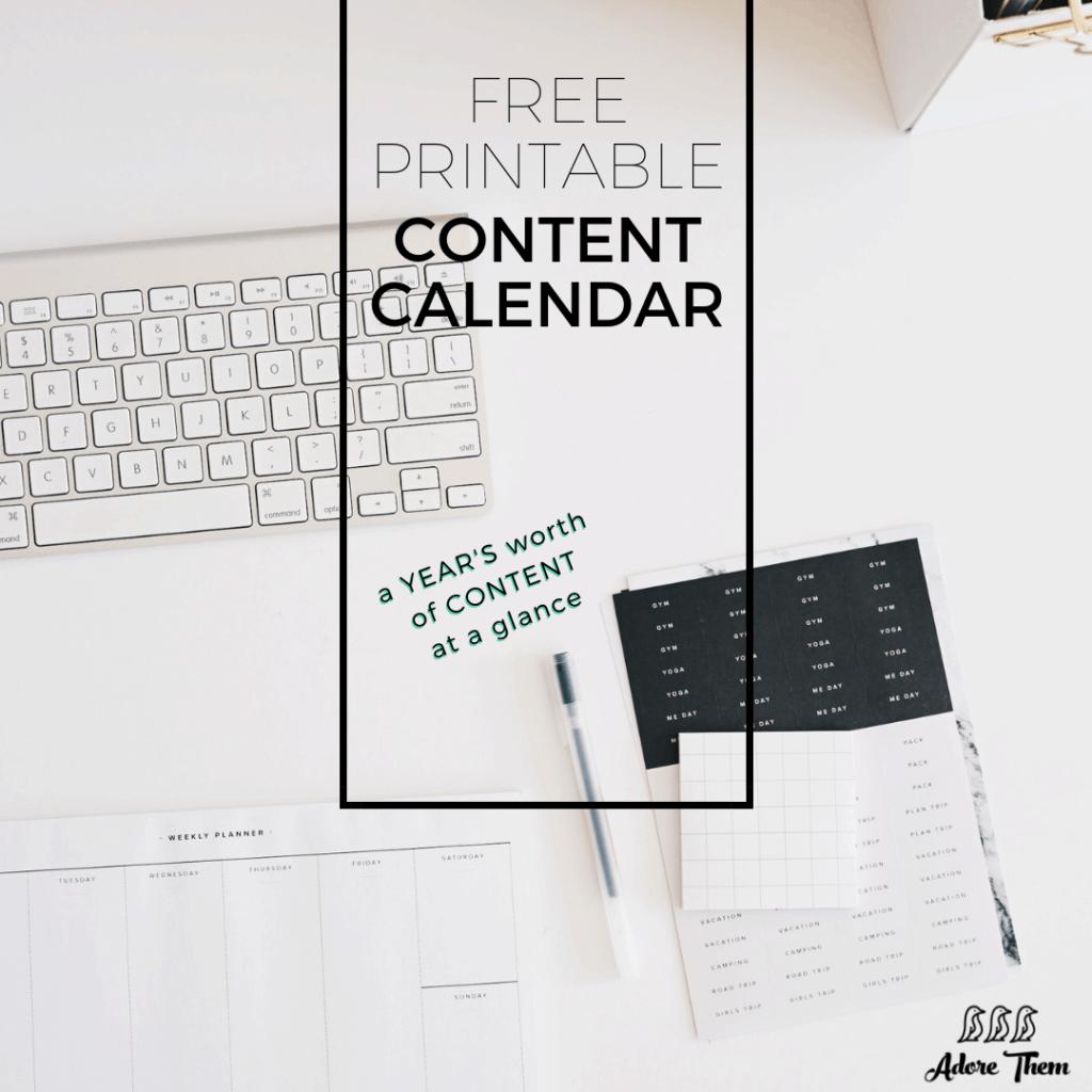 Free Printable Content Calendar (1)