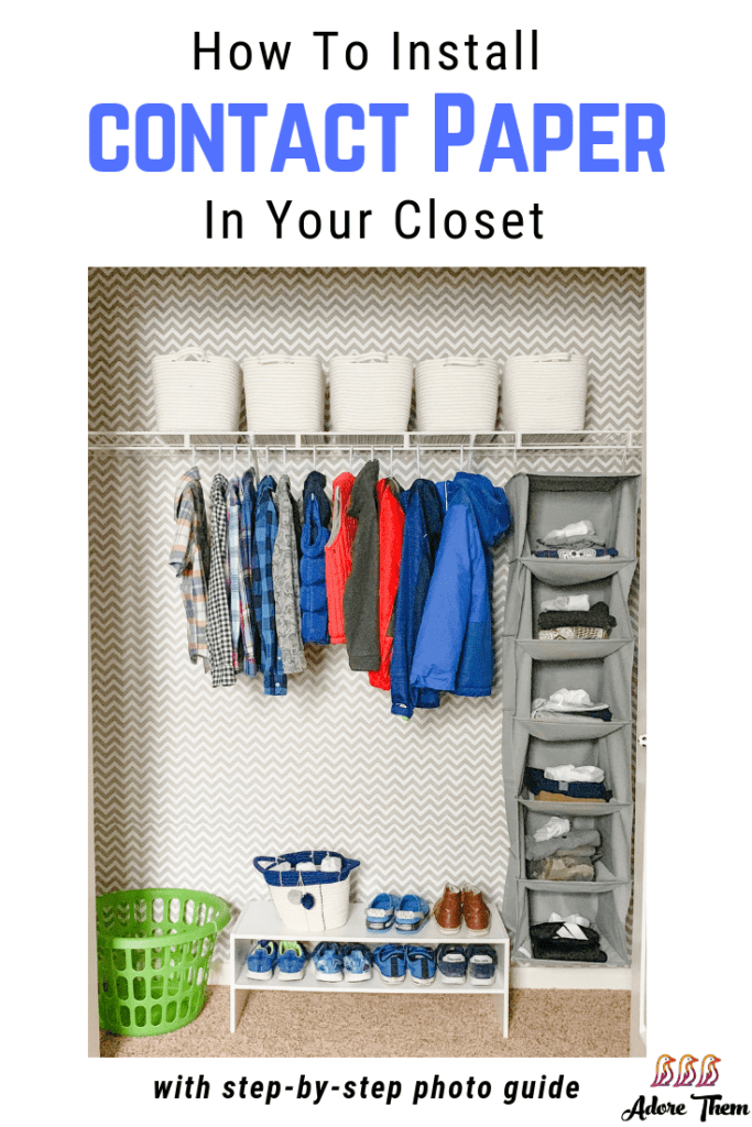 diy project - contact paper in closet