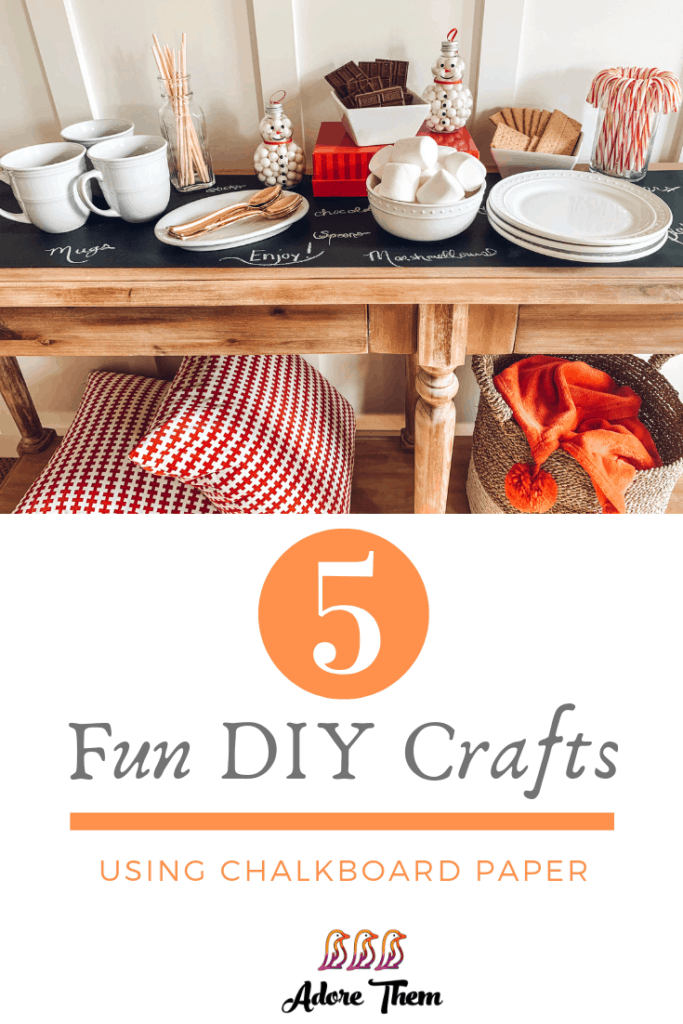 DIY crafts using chalkboard paper