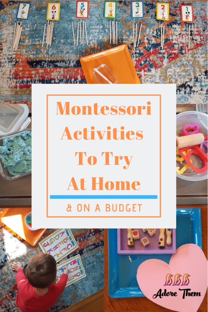 Montessori Activities to do at Home