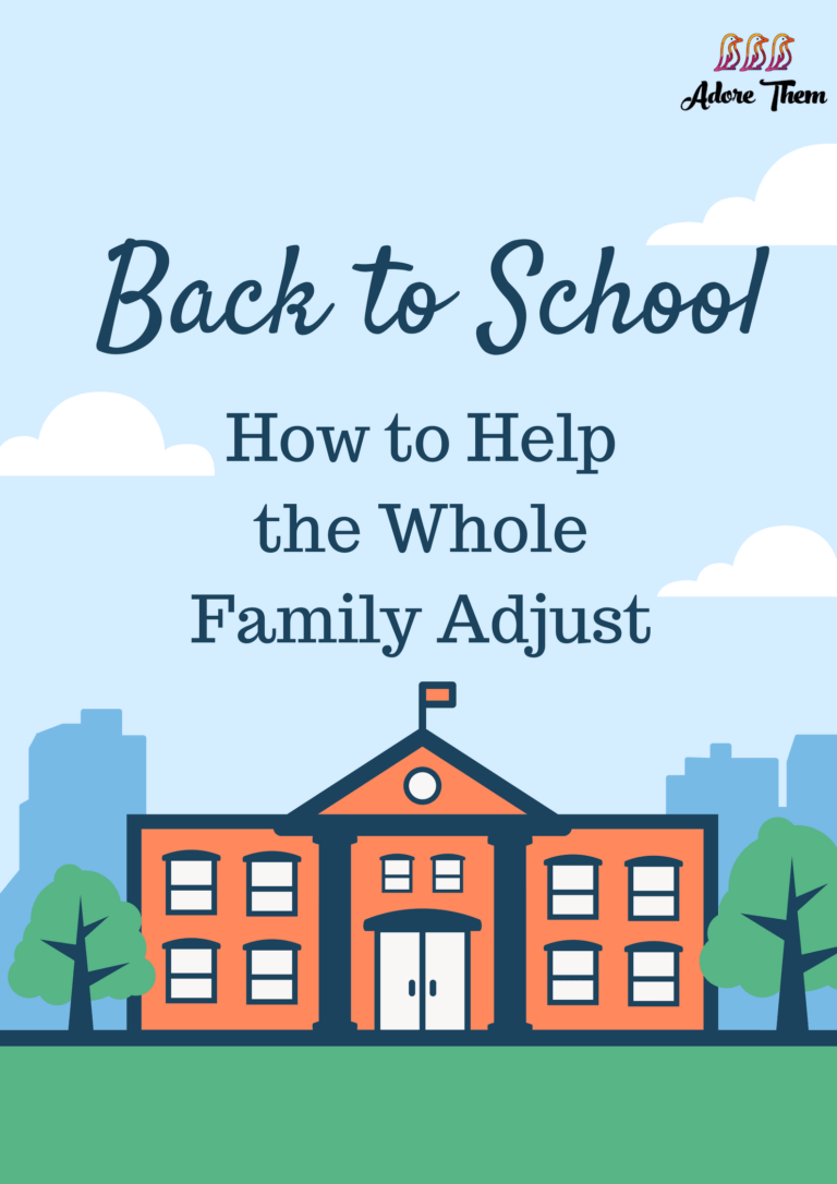 back to school - help the whole family adjust