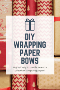 DIY wrapping paper bows