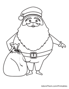 Free Christmas Coloring Pages Santa