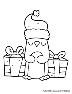 Free Christmas Coloring Pages Penguin