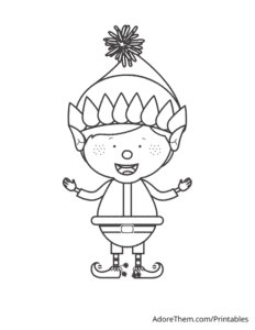 Free Christmas Coloring Pages Elf