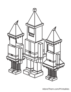 Free Christmas Coloring Pages Block Elves