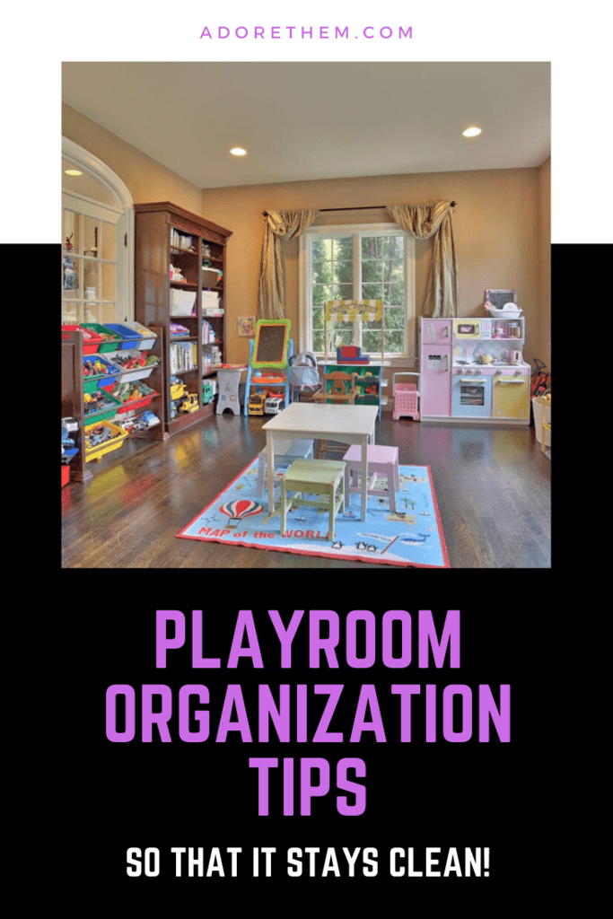 Playroom organization tips
