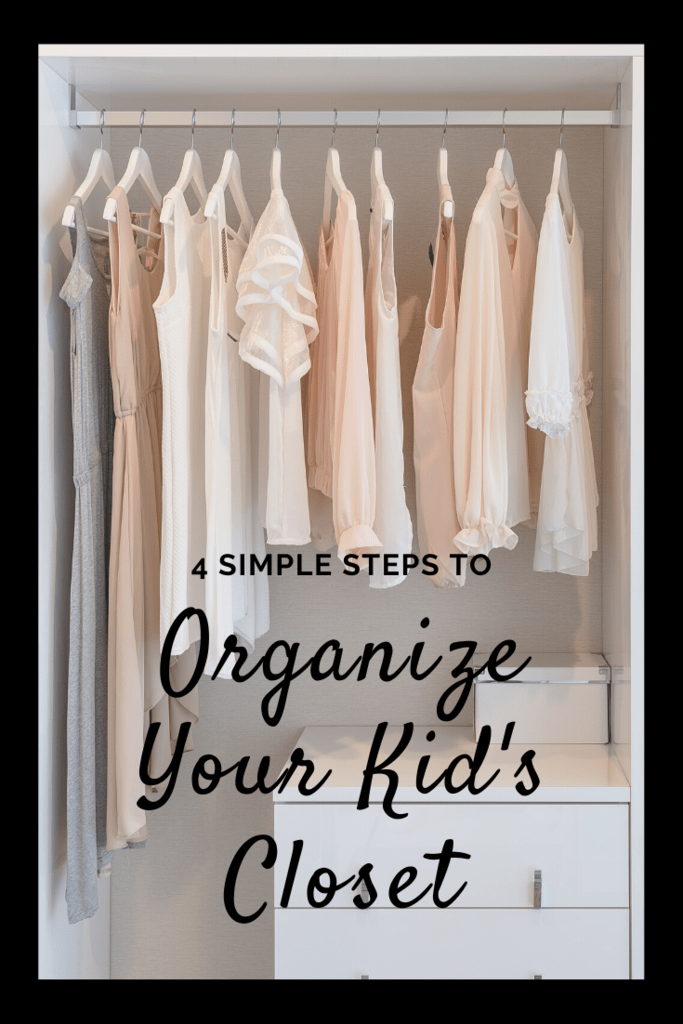 organize your kid's closet