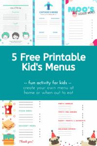 5 Free Printable Kid