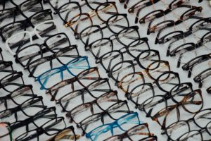 rows of glasses by face shape