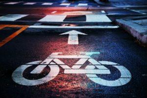 picture of a bike icon on a bike lane