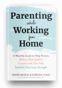parenting while working from home hard cover mockup