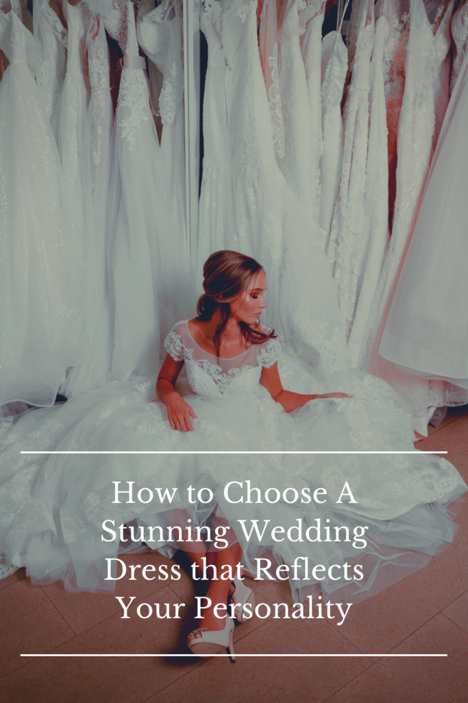 wedding dress personality graphic